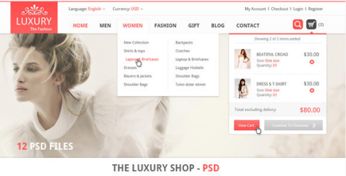 The Luxury Shop - PSD