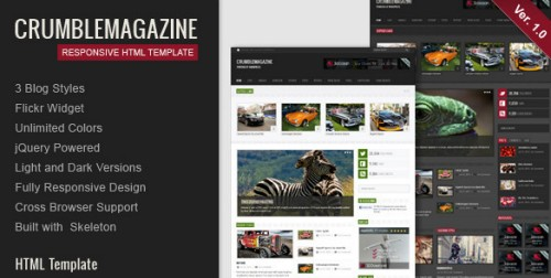Crumble - Responsive HTML Template