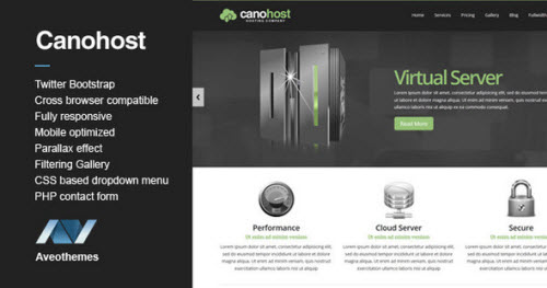 CanoHost - Responsive Hosting & Business Theme