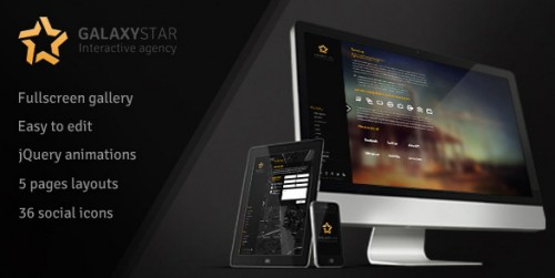 Galaxystar v1.0 - portfolio-wordpress-theme