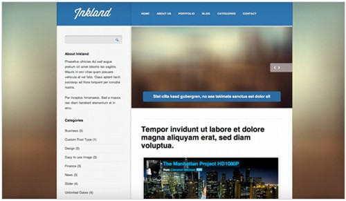Inkland v1.5 Blog Wordpress Theme