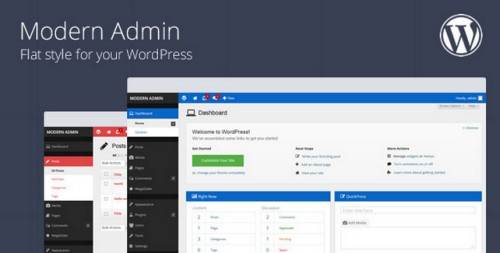 Modern Admin v1.6 - Flat style for your WordPress