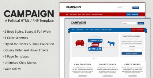 Campaign - Political HTML Template FULL