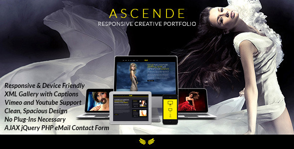 Ascende Responsive Photo & Video Portfolio Gallery