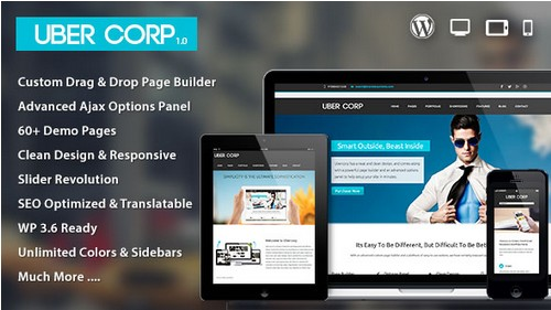 Ubercorp v1.0.1 Responsive Multi Purpose with Page Builder