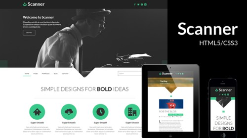 Scanner - Premium HTML5/CSS3 Template