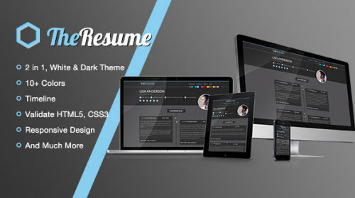 TheResume - Responsive Multi-colors Resume/CV Template