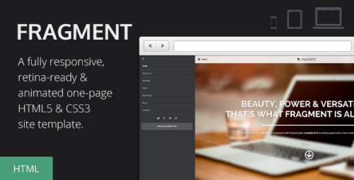 Fragment - Responsive One Page Template