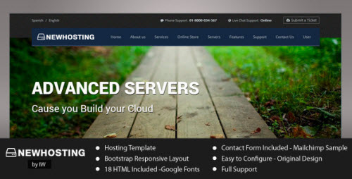 NewHosting - Responsive Hosting HTML Template