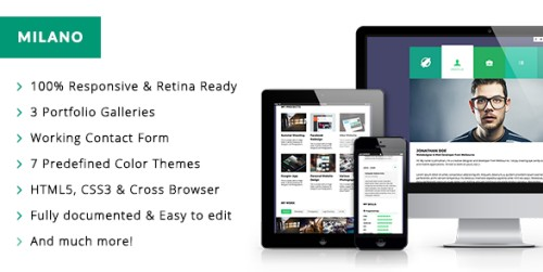 Milano Interactive Responsive HTML5 Template