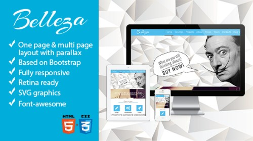 Belleza - One Page & Multi Page Parallax Theme
