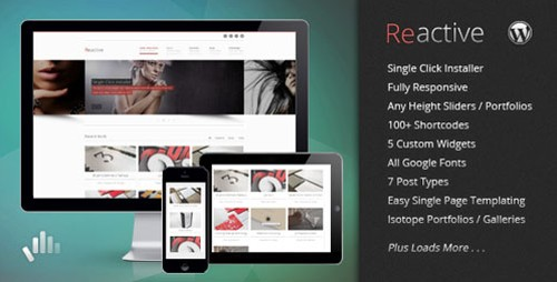 Reactive v1.1.4 - Premium Wordpress Theme