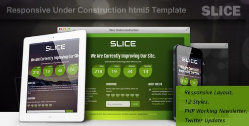 SLICE-Responsive Under Construction Template