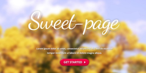 Sweet-page Landing Page FULL