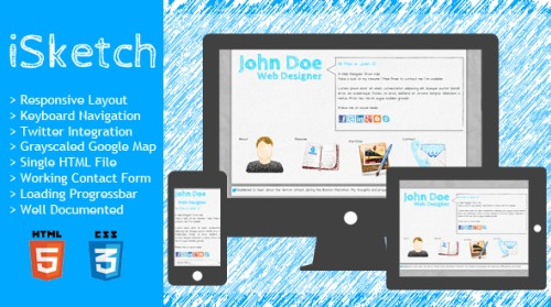 iSketch - Responsive vCard and Resume