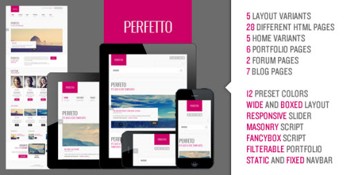 Perfetto - Responsive Bootstrap Template