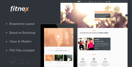 Fitnex - Responsive HTML Landing Page