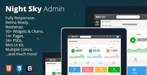 Night Sky - Ultimate Responsive Bootstrap Admin