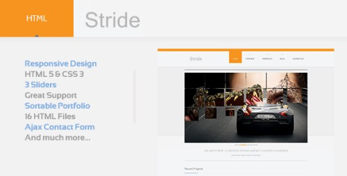 Stride - Responsive HTML5 Template