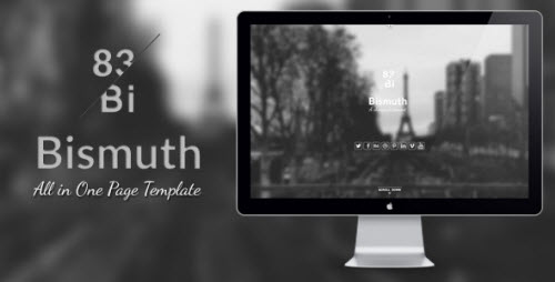 Bismuth : All in One Responsive Template