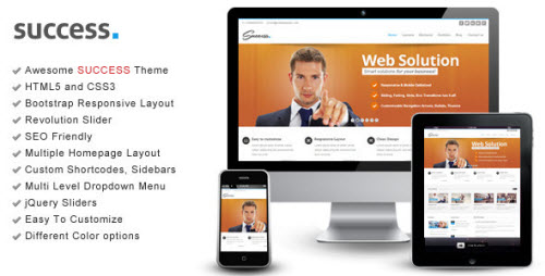 Success - Bootstrap Responsive HTML Template