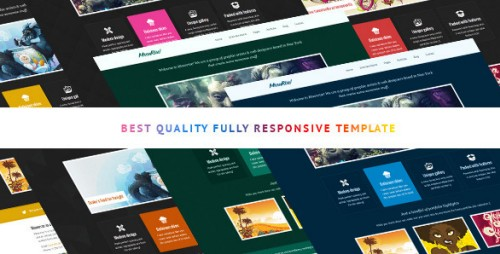 Moonrise bootstrap html template