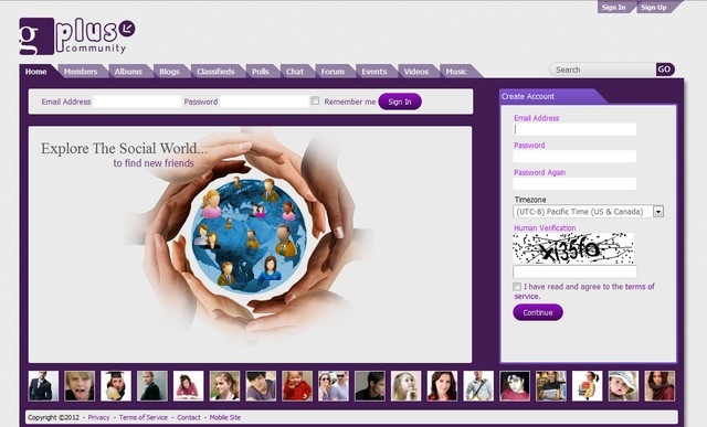 gPlus Purple - SocialEngine v4.x.x Theme