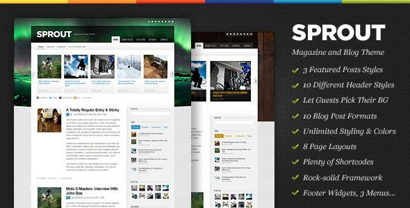 Sprout - Magazine & Blog WordPress Theme v1.1