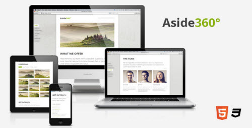 Aside360° - Responsive HTML5 One-Page Theme