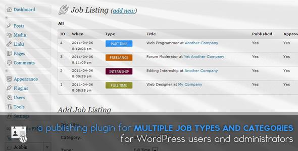 WordPress Jobbin v0.2.5