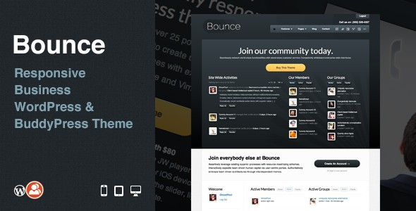 Bounce: Responsive Business WP & BuddyPress Theme v1.3.1