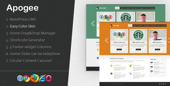 Apogee: A creative WordPress CMS Theme v1.1