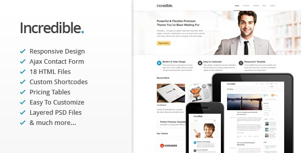 Incredible - Responsive HTML Template - Updated