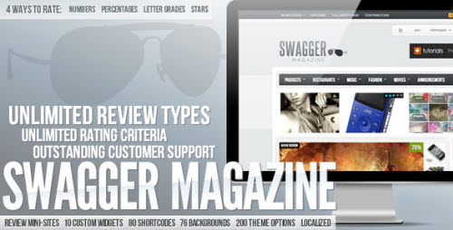 SwagMag - WordPress Magazine/Review Theme v1.8