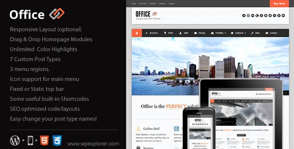 Office Responsive Business Theme v1.9