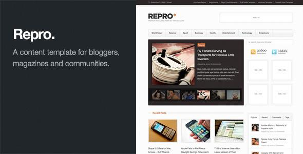 Repro - Premium WordPress News / Magazine Theme v1.1.5
