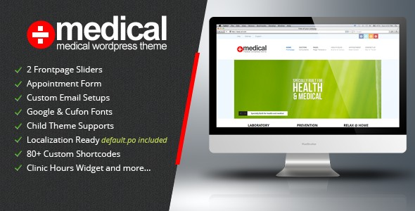 Medical - Premium Wordpress Theme v1.2