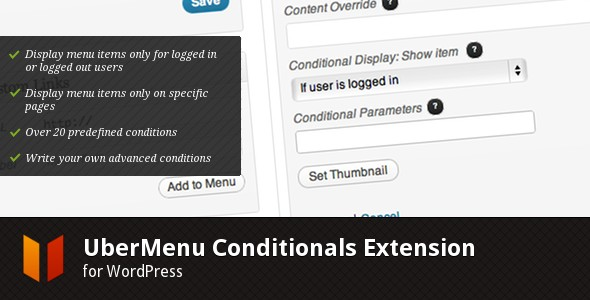 UberMenu - Conditionals Extension