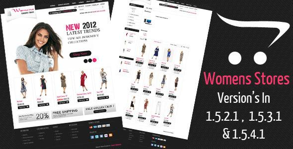 Womens Stores Opencart Theme - Updated
