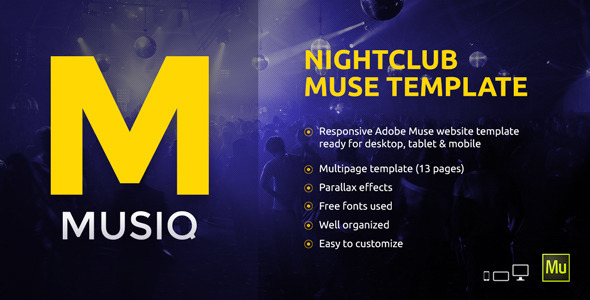 Musiq – Nightclub / Discotheque / DJ Bar Website Muse Template