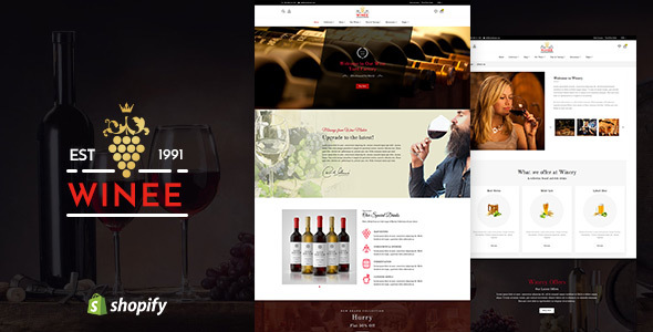 Winee v1.1 - Wine, Winery Shopify Theme