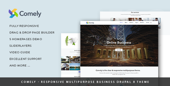 Comely - Responsive Multipurpose Business Drupal 8.6 Theme