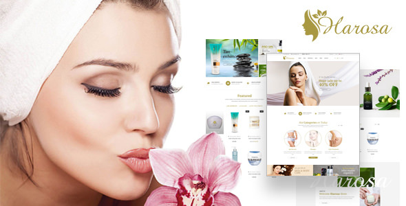 Harosa - Cosmetics and Beauty Magento Theme