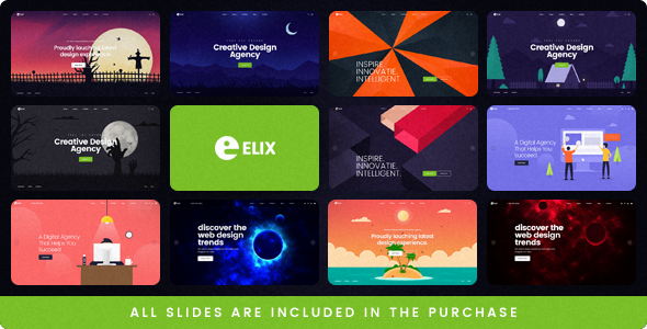 Elix - A Super PSD Template for Designers, Artists and Agencies