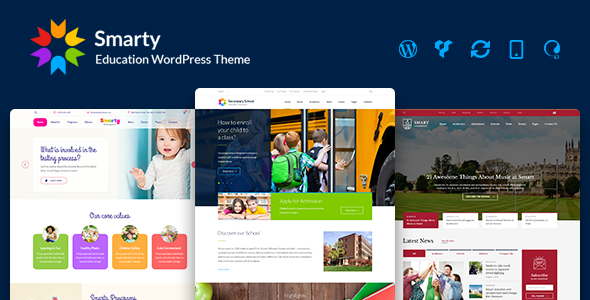 Smarty v3.0.3 - Education WordPress Theme for Kindergarten