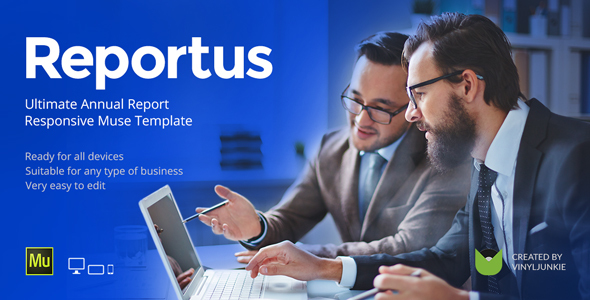 Reportus v1.1 - Annual Report Responsive Muse Template