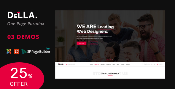 Della v1.0 - One Page Joomla Template for Digital Agency