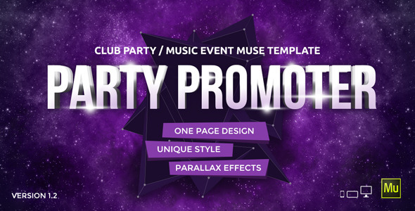 Party Promoter v1.2 - Club Music Event Muse Template