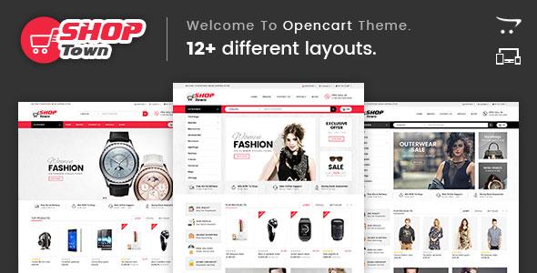 Shop Town - Multipurpose OpenCart Theme - DunTem com