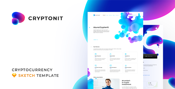 Cryptonit v1.0 - Digital Currency, ICO, Cryptocurrency Blog and Magazine, Finance Sketch Template